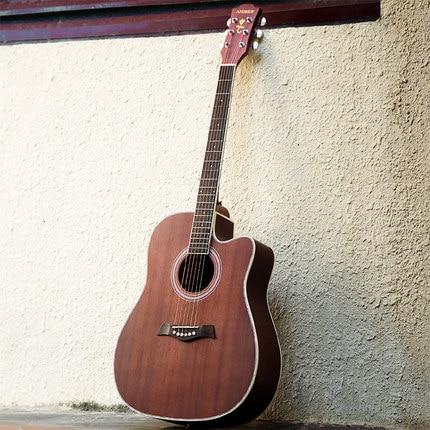 40 дюймов 41 дюймов в разрезе Народная акустическая Гитары с сумка/тюнер/Капо палисандр для начинающих музыкальный плеер