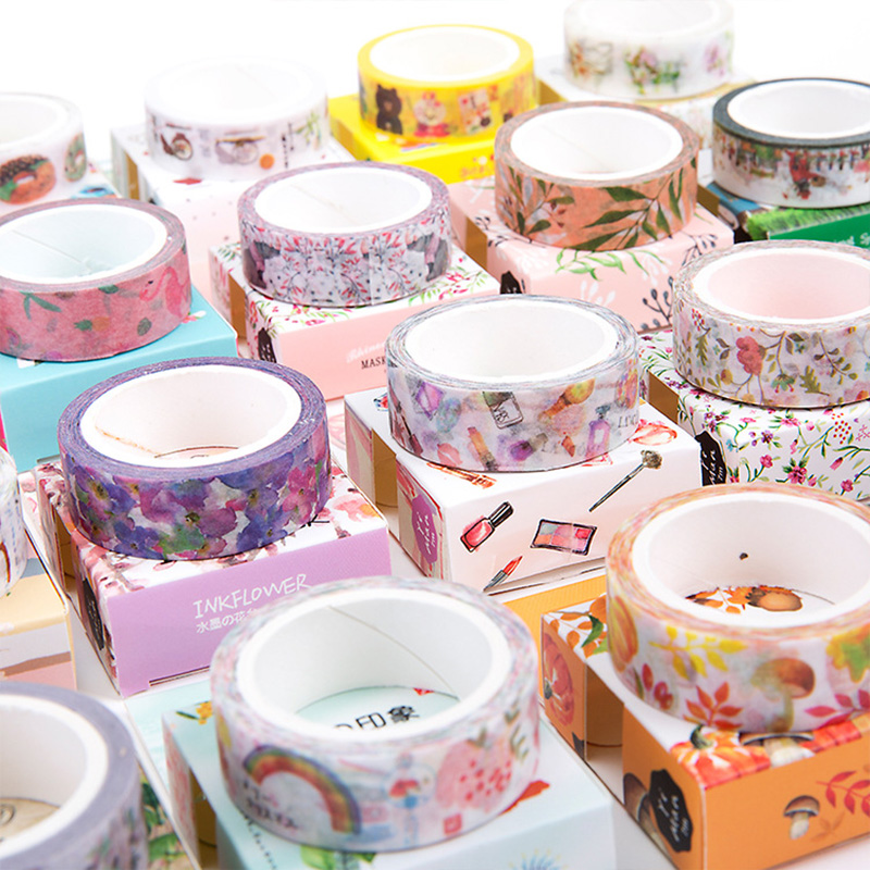 Washi Tape DIY Scrapbooking Paper Sticker Label Masking Tape Album Diary Decoration Stationery Tapes