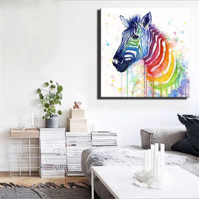 HD Print Abstract Horse Paintings For Kids Room Wall Watercolor Modern  Horse Canvas Prints Graffiti Art Poster For Living Room
