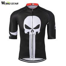 Weimostar Summer Cycling Jersey Ropa Ciclismo Men's Outdoor Sport Bike Jersey Bicycle Half Short Sleeve Clothing Top Skull Style