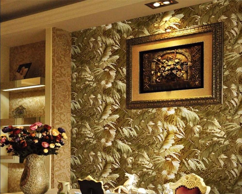 tapeten wohnzimmer gold : Beibehang Continental Helle Gold Metallic Reflektierende Anlage 3d
