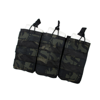 TMC Tactical Triple MOLLE 5.56mm Magazine Pouch Mag Carrier Airsoft Paintball Wargame Equipment 2971