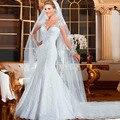 Backlakegirls Winter Lace Appliques V-neck Wedding Dress 2017 Boho High Quality Robe Mariage Bridal Gown vestido De noiva