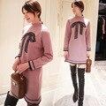 2016 Oferta Especial Mujeres Suéter Poncho Suéter Nuevo Invierno Femenino de Corea Mariposa Largo Mori En Un Engrosada Que Basa La Camisa