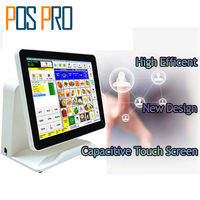 IZP010 POS Billing System Capacitive Touch Screen All In One POS Cash Register For Restaurant Supermarket