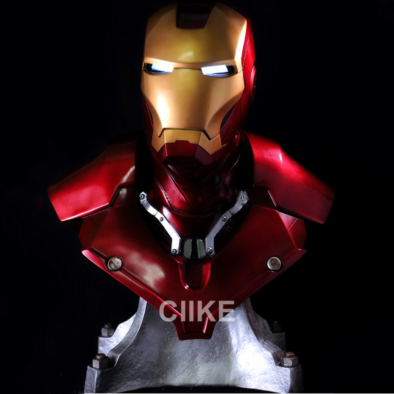 Lift Size 1 1 Scale Iron Man MK3 BUST Super Hero Tony Strak Resin Statue 3D
