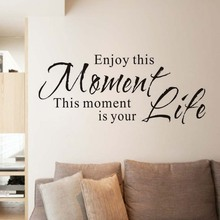 Enjoy This Moment Is Your Life Retro Phrases Wall Sticker For Kids Room Vinyl Wallpaper Decal Poster Home Decoration Accessories