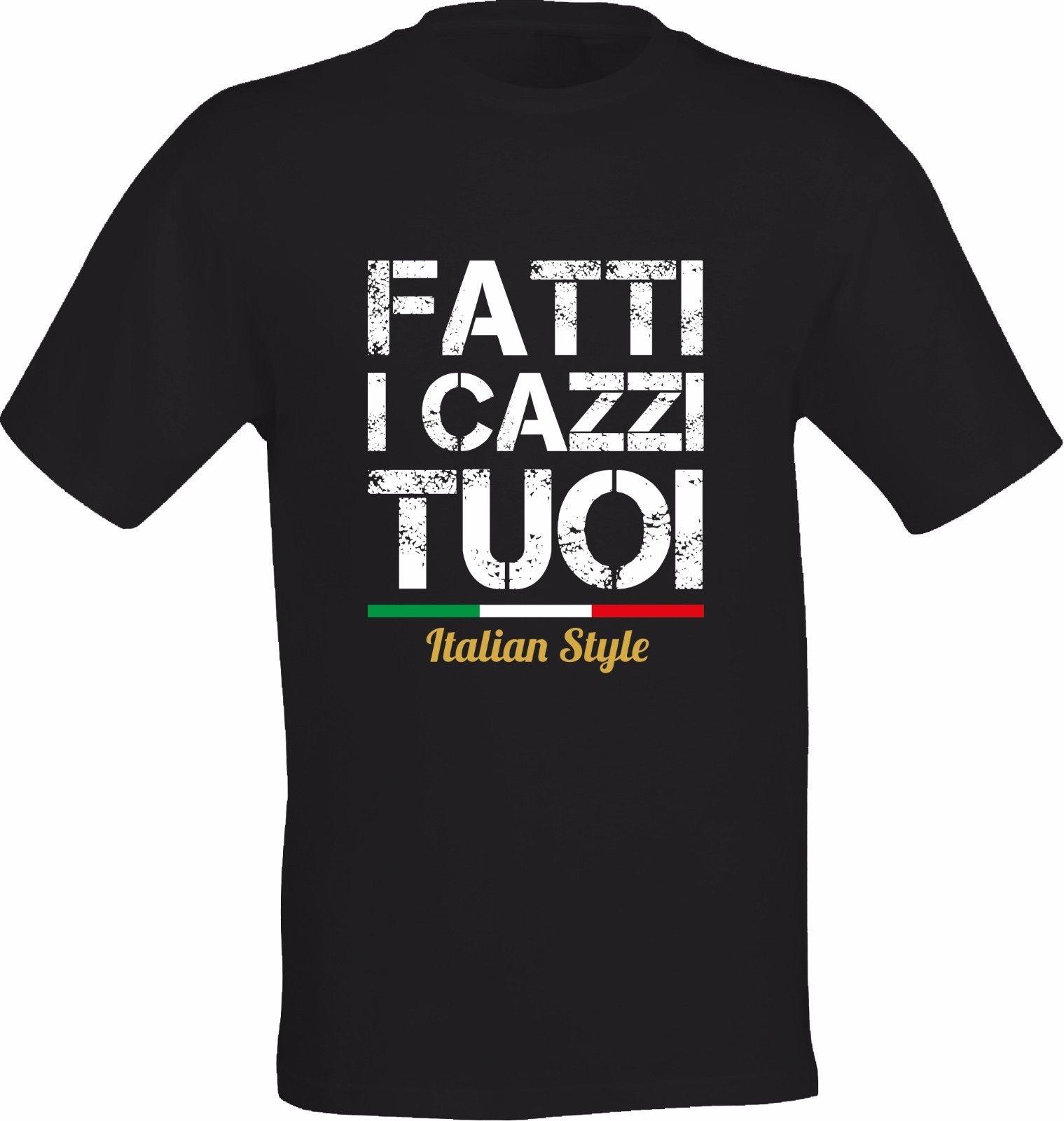 Высокое качество пользовательские футболка FATTI я C **** я TUOI итальянский Стиль Для мужчин из хлопка с принтом с круглым вырезом футболки ...