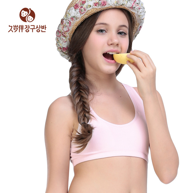 Factory direct clothing Young girl bra small vest wireless