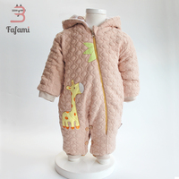 Baby winter Overalls for Newborn Baby girl Coat Padded cotton Babys Outwear Infant Baby Winter Clothes Childern boys Snowsuit