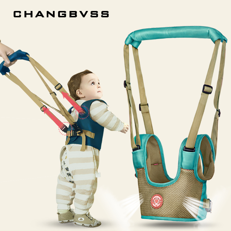 цены Baby Harness For Walking Cotton Mesh Children Reins Leash Backpack For Kids Stick Sling Walking Assistant Kids Safety Harness
