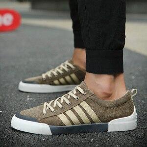 Image 3 - 2018 New Classics Skateboarding Shoes Men luxury shoes men Sneakers Soft Breathable Lace Up green Sport Shoes Men canvas flats
