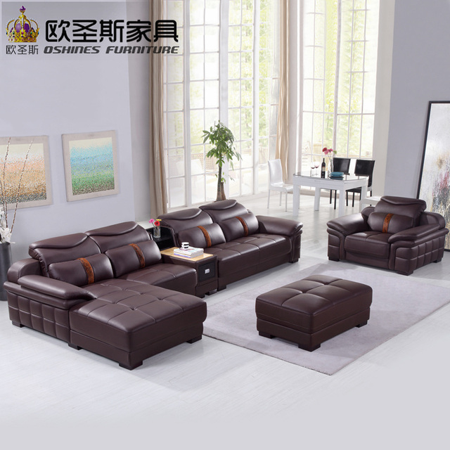 New Model L Shaped Modern Italy Genuine Real Leather Sectional Latest Corner Furniture Livingroom Sex Sofa Set L29