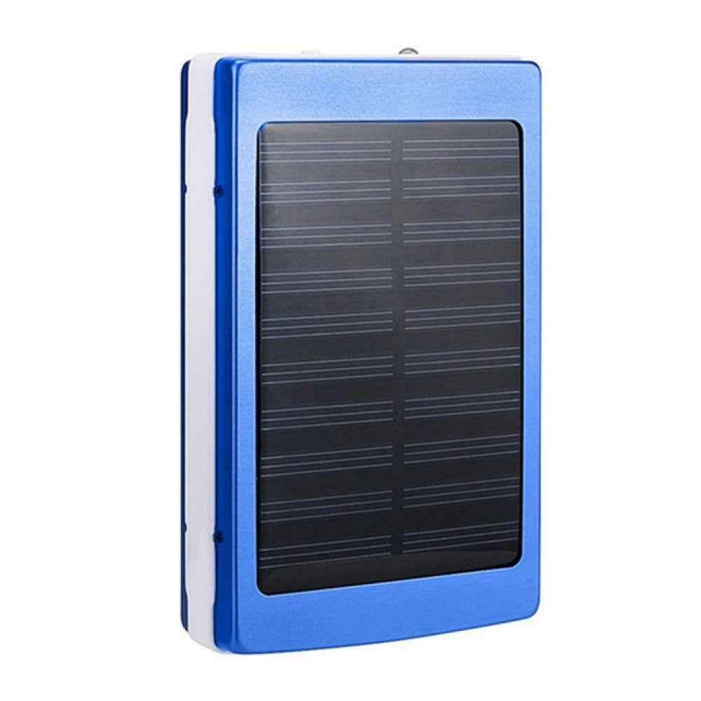 لا بطارية الطاقة الشمسية LED المحمولة بنك الطاقة مزدوجة usb شاحن بطارية لتقوم بها بنفسك صندوق محمول شحن الهاتف Powerbank ل MI آيفون ملاحظة