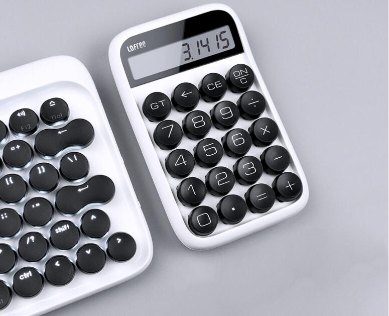 3 colors Xiaomi Loffee Calculator Vintage Decompressed detachable keycap intelligent shutdown student office calculation tool (11)