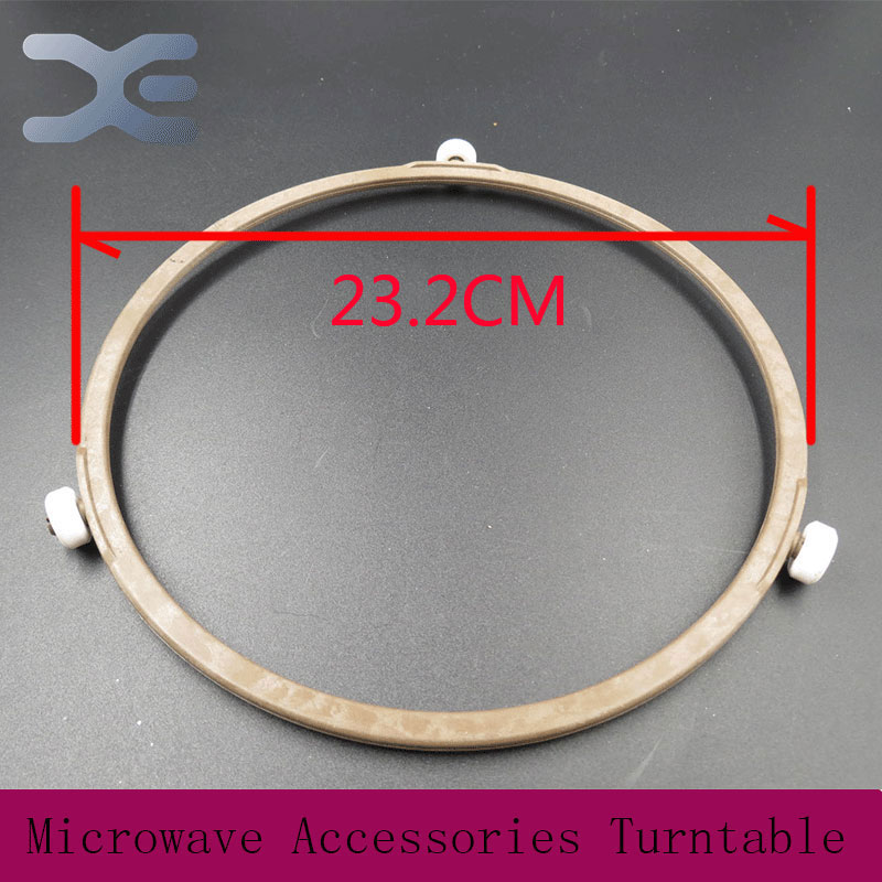 Microwave Oven Parts Plastic Round Shaped Rotating Tray Glass Microwave Plate Support Suitable Guide Roller Glass Tray
