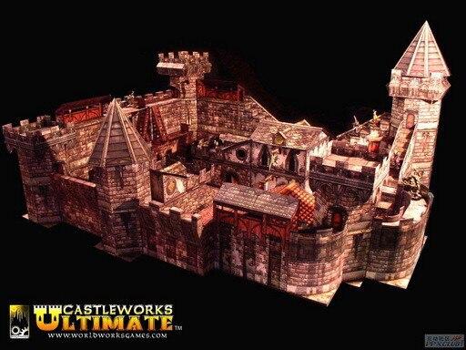 Super Masterpiece Castleworks Ultimate Castle Paper Model