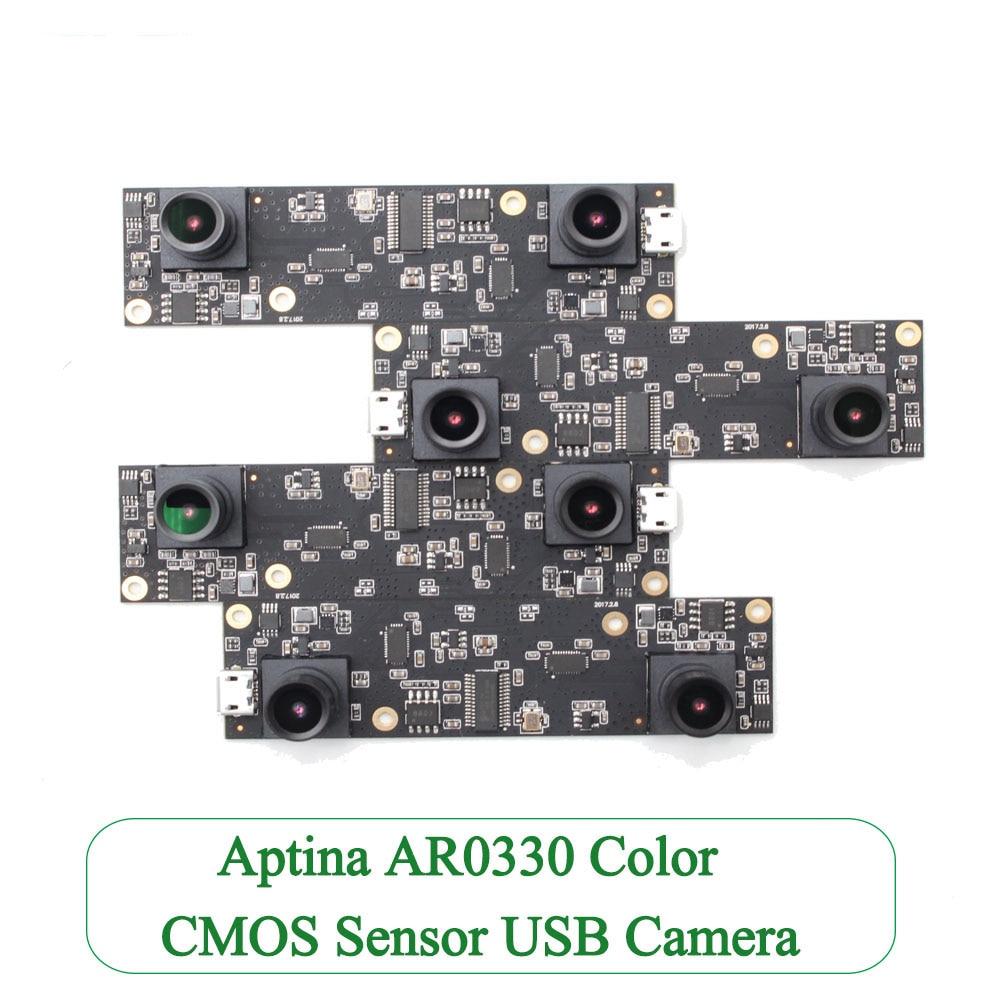 Aptina AR0330 Color CMOS Dual lens Micro USB Full HD Camera Module board, OTG UVC Plug Play Stereo Webcam Wide Angle 1 3mp aptina ar01301 3 cmos mjpeg uvc wide angle fisheye hd webcam usb low illumination 0 01lux low light cctv security camera