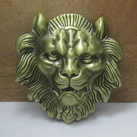 Fashion heavy lion head belt buckle with antique brass finish FP-03652-1 for 4cm wideth belt with continous stock free shipping