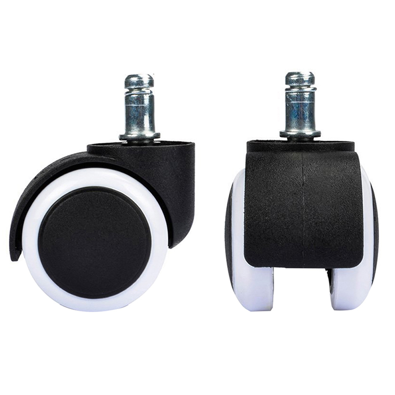 1 Piece 2 Replacement Office Chair Wheel Casters Mute Rubber Rolling Rollers Wheels 50KG Home Furniture Hardware Supplies 240337 ergonomic chair quality pu wheel household office chair computer chair 3d thick cushion high breathable mesh