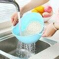 Новое поступление  двойная ручка  машина для мытья риса  ситечко для риса  корзина  кухонная корзина  ситечко для мытья риса  кухонный инстру...