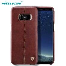 Для Samsung Galaxy S8 Чехол Оригинальный Nillkin Englon кожаные чехлы для Samsung Galaxy S8 плюс телефон задняя крышки