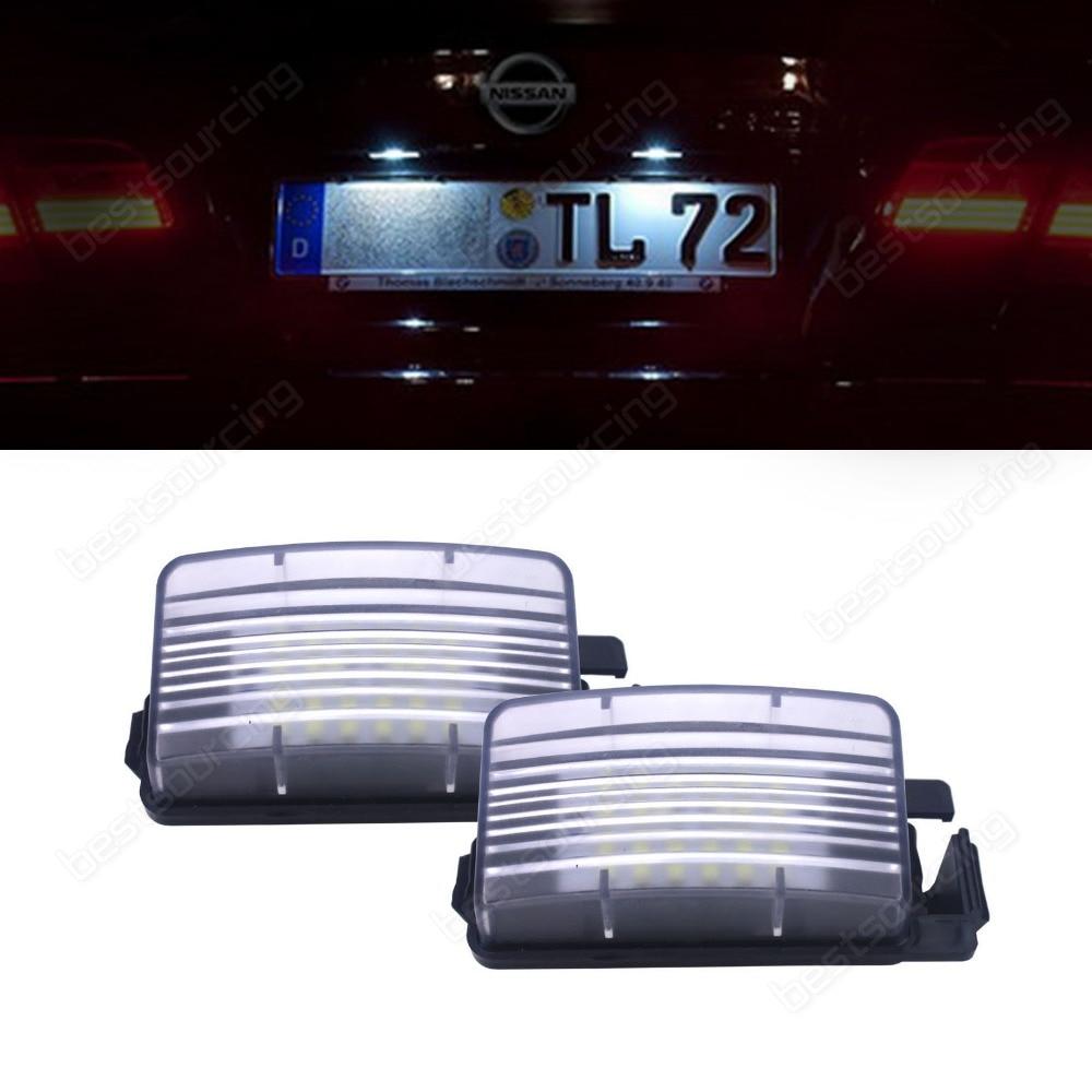 Canbus LED License Number Plate Light For 350Z R35 Z12 Infiniti G35 G37(CA157)