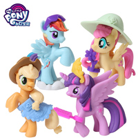 Hasbro 5CM My Little Pony Action Toy Figures Toy mini story pony full set of 4 protagonist pony girl gift Toy for children