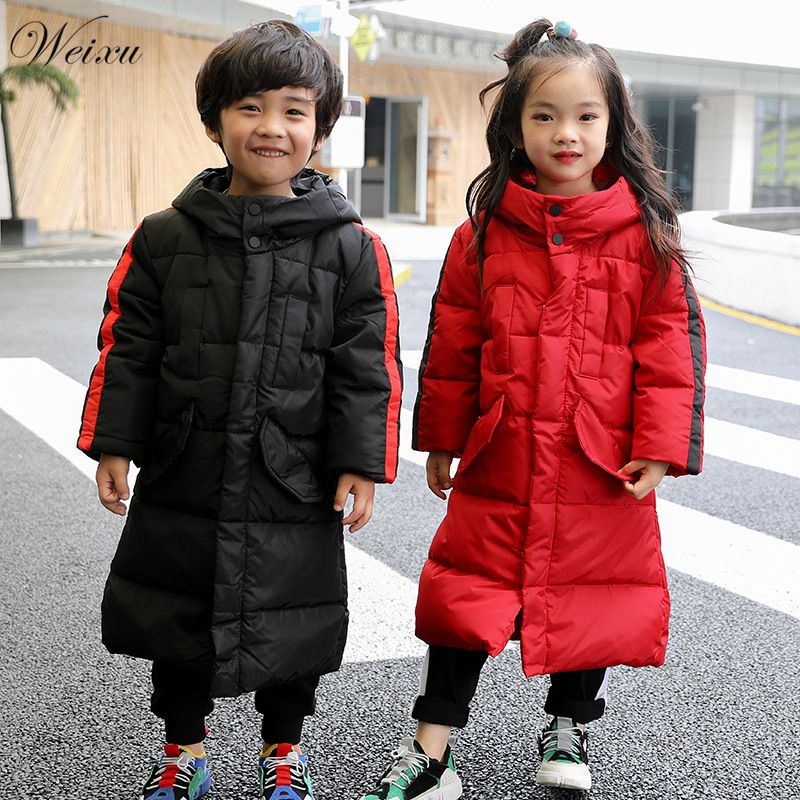 2018 Down Jacket for Baby Girl Hooded Duck Down Thick Children Boy Winter Jackets Coat Kids Long Warm Snowsuit Outerwear Clothes 2018 cold winter warm thick baby child girl hoody long outerwear pink duck down