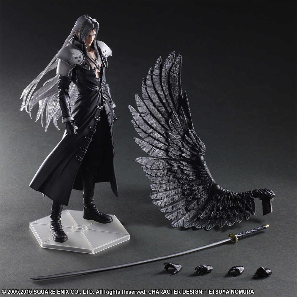 Artes jogar Final Fantasy Sephiroth 7 Action Figure Toy Collectible Modelo 25 CM