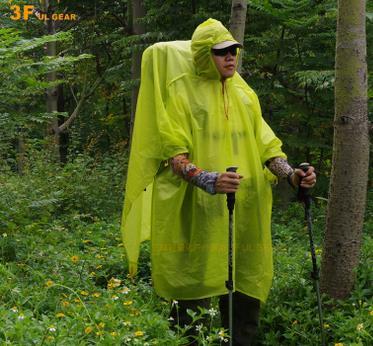 3f ul gear Multifunctional Raincoat 3 in 1 Outdoor Rain Poncho Backpack Rain Cover Waterproof Tent Awning Camping mat waterproof raincoat kids children boys long cute poncho lluvia mujer girls raincoat impermeable backpack rain cover ddg48y