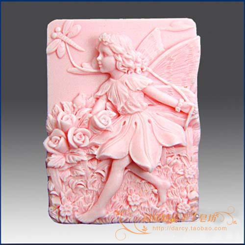A Flower Child Lunlun Angel szilikon szappan penész Kézzel készített szilikon 3d forma DIY kézműves formák S114