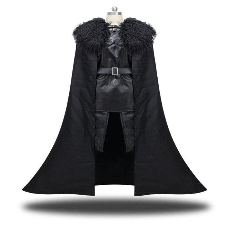 Game of Thrones Jon Snow Cosplay Costume  Suit Clothing cloak