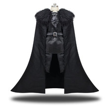Game of Thrones Jon Snow Cosplay Costume  Suit Clothing cloak