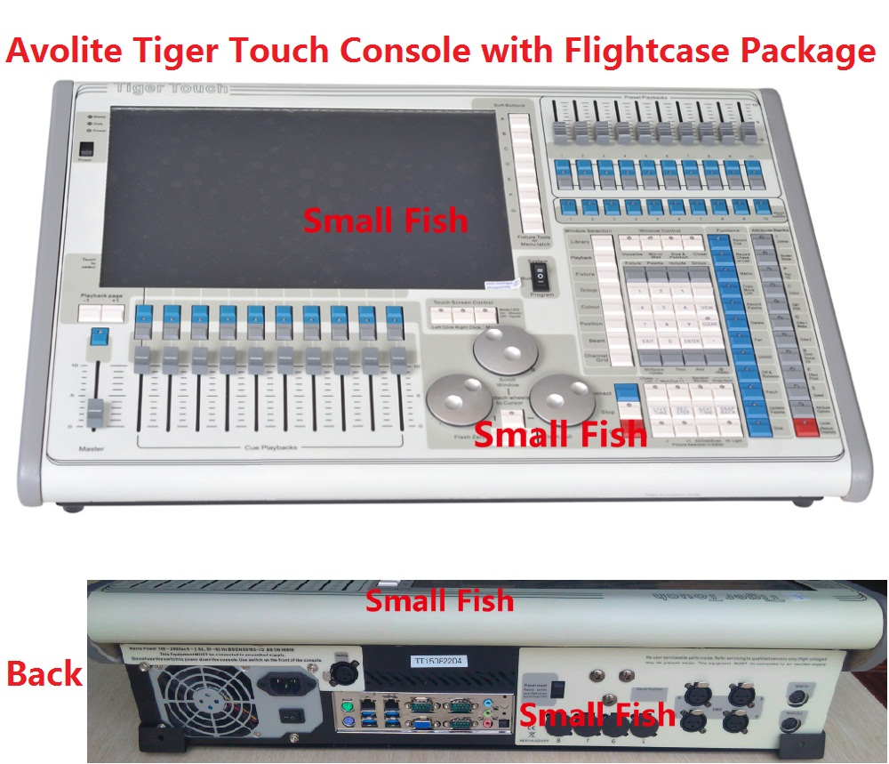 Titan Operating System Tiger Touch Controller Stage Light Control Console Moving Head Equipment 2048 DMX Channels in Flight case