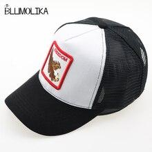 купить Fashion Snapback Hat For Men Summer Mesh Baseball Cap Women Animal Embroidery Hip Hop Cap Casquette Boys Bone Sun Hats по цене 296.33 рублей
