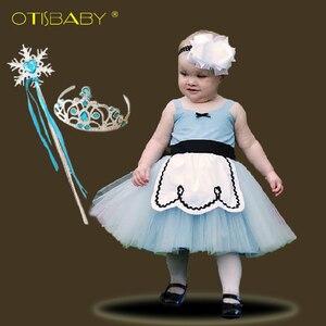 Летнее платье для маленьких девочек 0 - 6 лет, костюм принцессы с надписью «Alice», детское платье Золушки, рапунзеля, Белоснежки, платье для дня ...