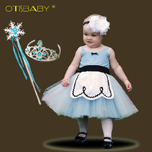 0 - 6 Year Summer Infants Girls Princess Alice Costume Kids Cinderella Rapunzel Snow White Baby Girl Birthday Party Prom Dress