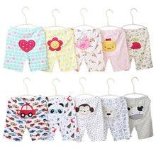 [5Pcs/lot Random Color]Cartoon Print Baby Shorts Cotton Baby Girl Shorts Summer Toddler Unisex Short Pants Newborn Panties