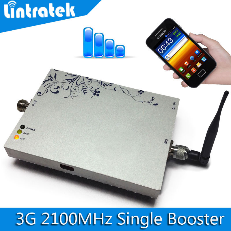 Lintratek 3G Repeater Verstärker WCDMA 2100 MHz Signal Booster 2100 LTE Band 1 Handysignalverstärker Mit MGC