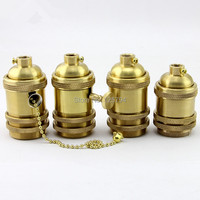 UL Pure Copper 58mm 68mm E26 E27 Lamp Holder Zipper Knob Switch Lamp Holder E27 Socket