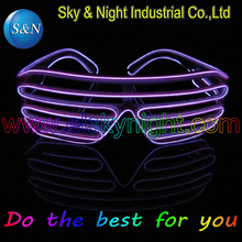 EL shutter glasses actived 3V inverter LED Glasses For any PARTY ten color for option with free shipping red pink blue white