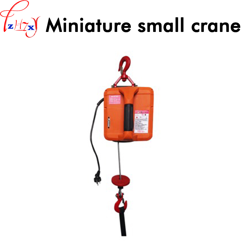 Portable electric hoist traction hoist household hand section of small crane hanging winch machine 220V low price 2 t thickening folding car small crane engine hanger hanging manual hydraulic crane jack for sale