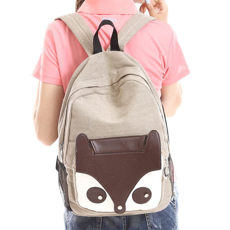 Aliexpress.com : Buy Cute bags fox canvas backpack middle school ...