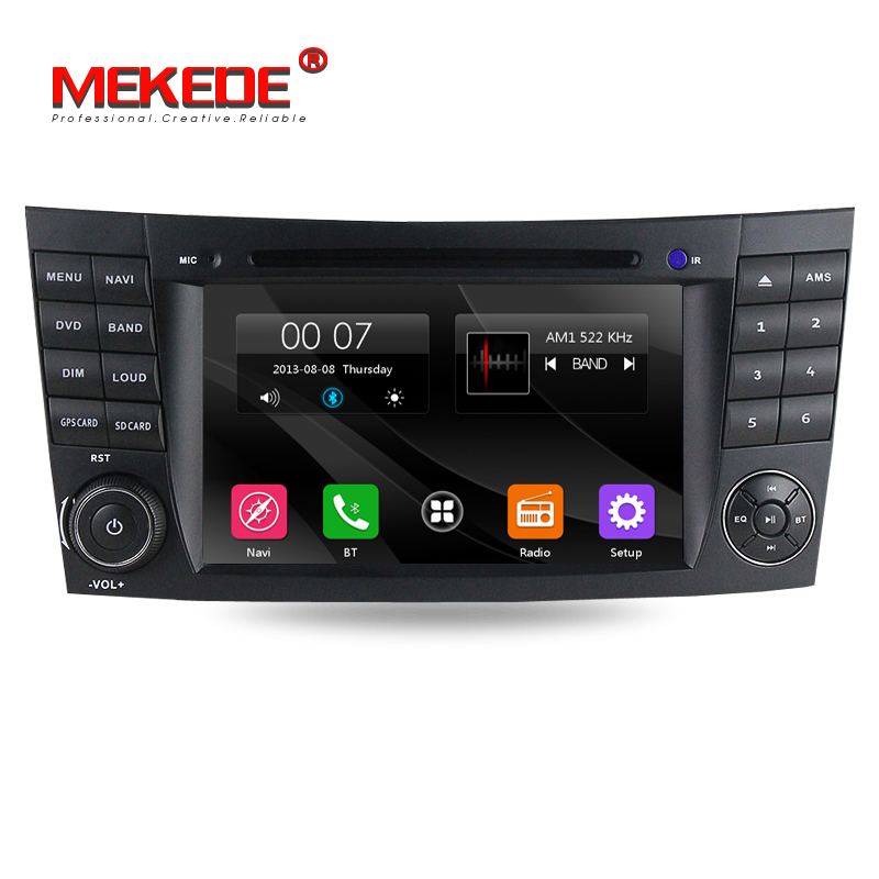Free shipping! 7inch <font><b>2din</b></font> car multimedia player for Mercedes/Benz E Class W211 W209 W219 including canbus GPS Navigation RDS BT image