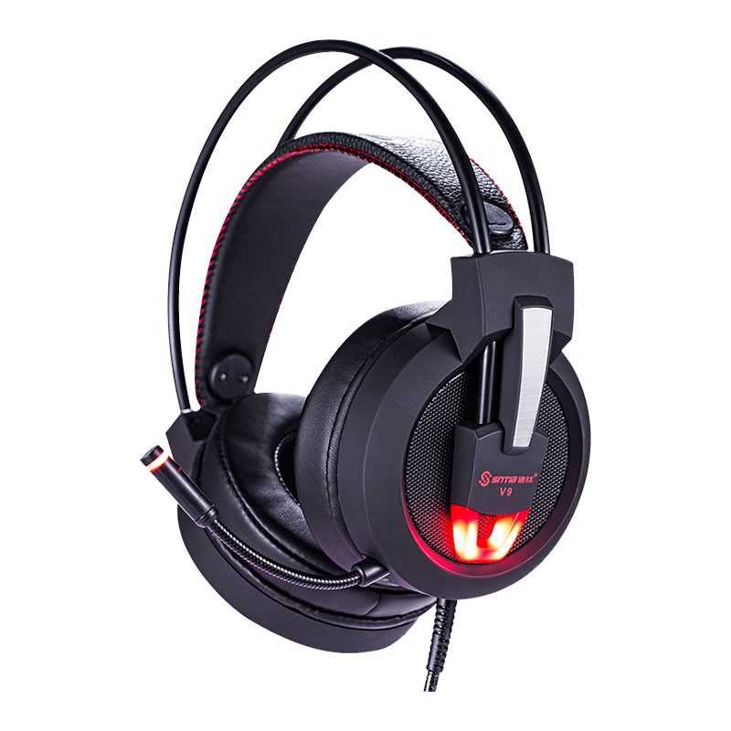 YODELI Professional Wired Game Headset Stereo Headband Gaming Headphones 7.1 Surround Sound with Microphone for Computer Gamer each g1100 shake e sports gaming mic led light headset headphone casque with 7 1 heavy bass surround sound for pc gamer