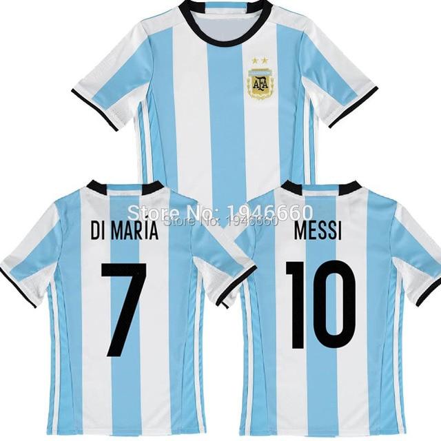 2016 Copa America Argentina Camisetas de Futbol Soccer Jersey Messi Maillot  Argentina Di Maria Kun Aguero Higuain Football Shirt 03c2eea821383