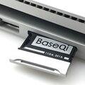 BaseQi aluminio Stealth drive Micro SD/TF tarjeta adaptador expansión Memoria SD lector de tarjetas para Microsoft Surface Book 2 15