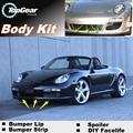 For Porsche Boxster 986 987 981 Bumper Lip Lips / Top Gear Shop Spoiler For Car Tuning / TOPGEAR Body Kit + Strip