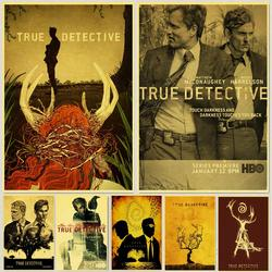 Vintage True detective Classic Movie retro posters kraft wall paper High Quality Painting For Home Decor wall stickers